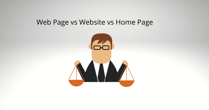 web page vs website vs homepage