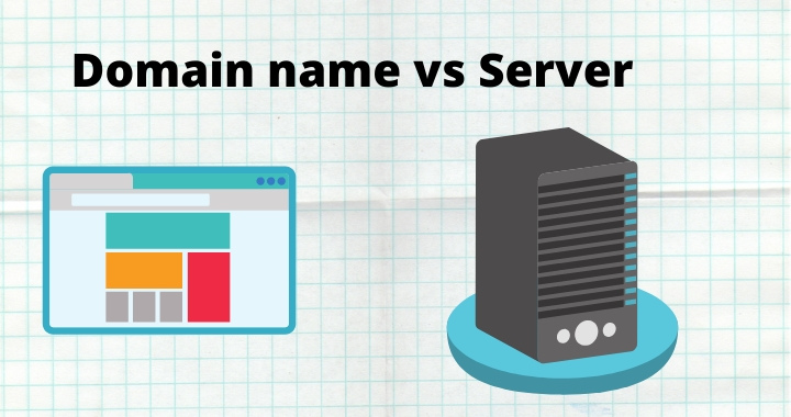 Difference between domain and server