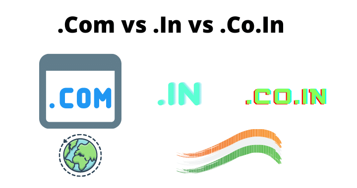 .com vs .in vs co.in domain